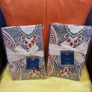 Set of 2 *Pier 1* Standard Pillow Shams